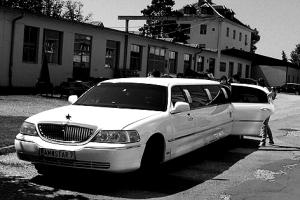 """Starker Auftritt: Die drittplatzierte Band """"Epix"""" fuhr mit einer Luxuslimousine bei """"Make Music"""" vor."""