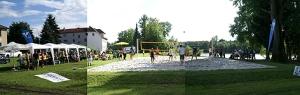 Der Ennsdorf Beach: Hier trifft sich die Jugend im Sommer zum Beachvolleyballspielen und Baden.