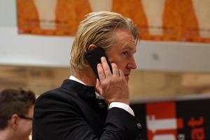 Medienprofi: Detlev Buck liefert auch beim Telefonieren ein gutes Bild ab.