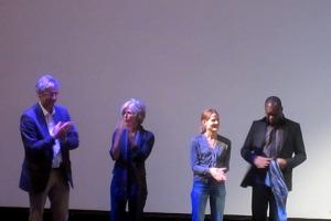 Moderator Claus Philipp, Regisseurin Sibylle Dahrendorf, Aino Laberenz und Francis Kéré.