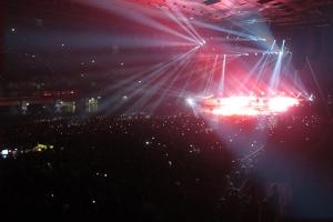 Spektakuläre Eröffnungsshow beim Muse-Konzert in Wien.