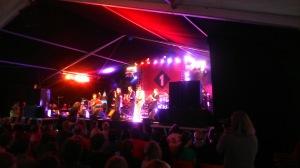 Familie Lässig und Gäste im Ö1-Zelt am DIF2014