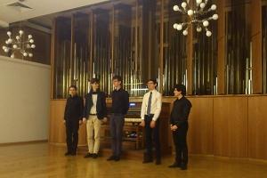 Studierende von Pier Damiano Peretti im Anton Heiller-Saal