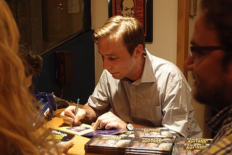 Rudi Schöller bei der CD-Präsentation