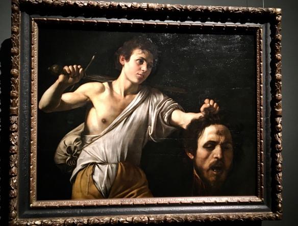 David mit dem Haupt Goliaths, Caravaggio