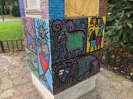 Mosaik Wetterhäuschen Rathauspark